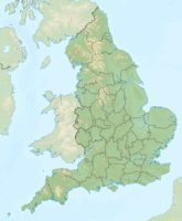 England Relief Location Map